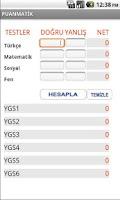 Screenshot of PuanMatik - YGS / LYS