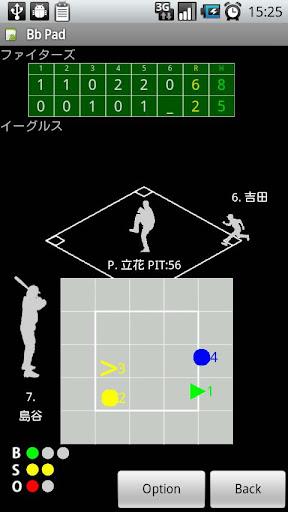 野球スコアブックアプリ Bb Pad