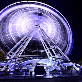 Spinning by Wessel Badenhorst - City,  Street & Park  Amusement Parks ( winter )