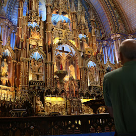 Montreal's Notre Dame Cathedral by Victor Mirontschuk - Buildings & Architecture Places of Worship ( montreal, church, places, travel, architecture )