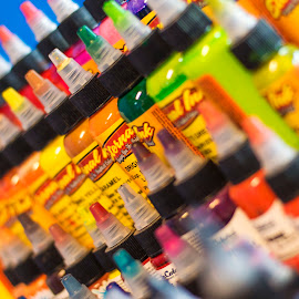 Inked? by Brandi Hollywood - Artistic Objects Business Objects ( orange, color, colorful, green, tattoo, ink )