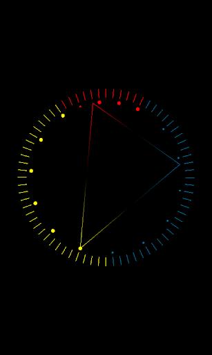 Trigon clock live wallpaper