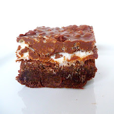 Marshmallow Crunch Brownie Bars