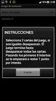 Screenshot of Juego de Memoria