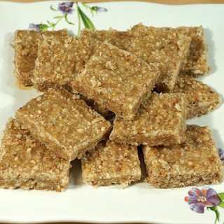 Flax Seed Burfi (Flaxseed Healthy Bar)