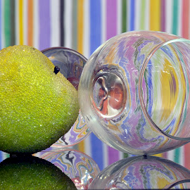 apple & glass by Iulian Cahul - Artistic Objects Cups, Plates & Utensils ( apple, glass )