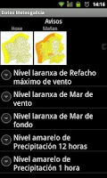 Screenshot of Datos Meteo Galiza