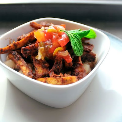 Spicy Chili Chocolate Tofu Fries