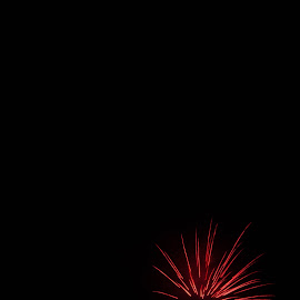 Fireworks by Roland Planitz - Abstract Fire & Fireworks ( red, feuerwerk, firework, fireworks,  )