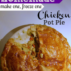 Chicken Pot Pie (make one freeze one, with vegetarian version)