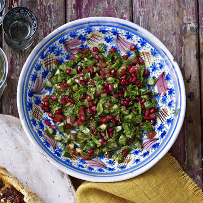 Chopped Herb & Pomegranate Salad