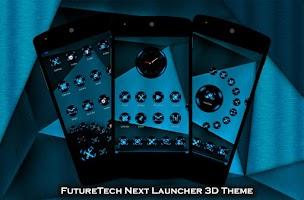 Screenshot of FutureTech Next Launcher Theme
