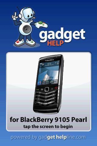 BlackBerry Pearl - Gadget Help