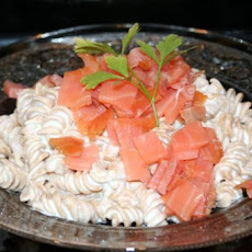 Cream Cheese and Lox Pasta