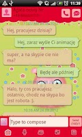 Screenshot of GO SMS Pro Green Mimi Theme
