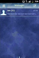 Screenshot of GO SMS Theme Neon Blue
