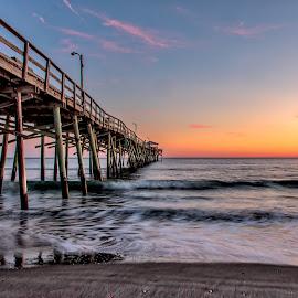 Pier at Sunset by Carol Plummer - Buildings & Architecture Bridges & Suspended Structures (  )