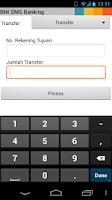 Screenshot of BNI SMS Banking