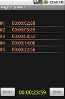 Screenshot of Easy Stop Watch