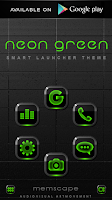 Screenshot of NEON GREEN Digi Clock Widget