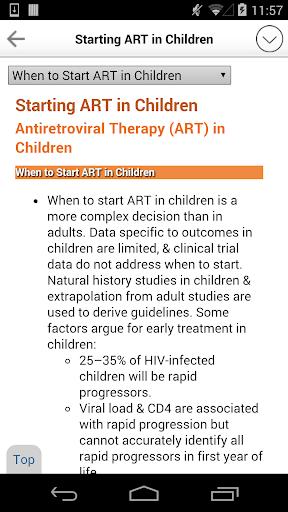 Sanford Guide:HIV/AIDS Rx - screenshot