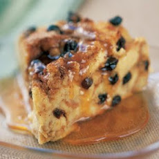 Cinnamon-Raisin Bread Pudding with Maple Sauce