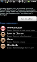 Screenshot of DirecTV Remote+ Shortcut Addon