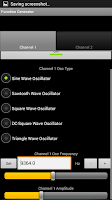 Screenshot of Electronic Function Generator
