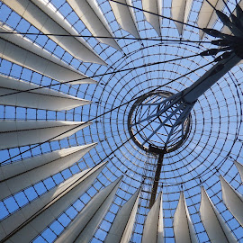 Roof by Ellen Todd - Buildings & Architecture Other Interior ( roof, sony centre, suspension, sails, berlin )