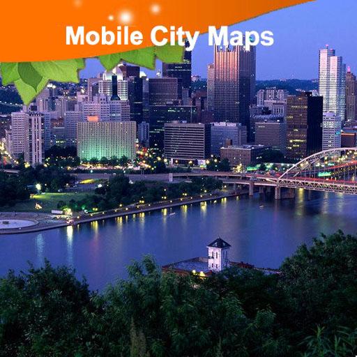 Pittsburgh Street Map LOGO-APP點子