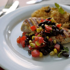 Crusted Chicken and Black Beans