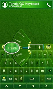 GO Keyboard Tennis Theme - screenshot