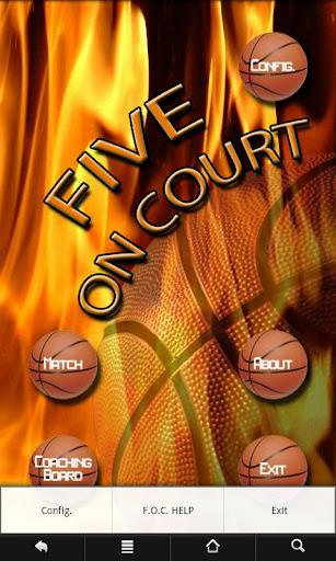 バスケットボールFiveOnCourt