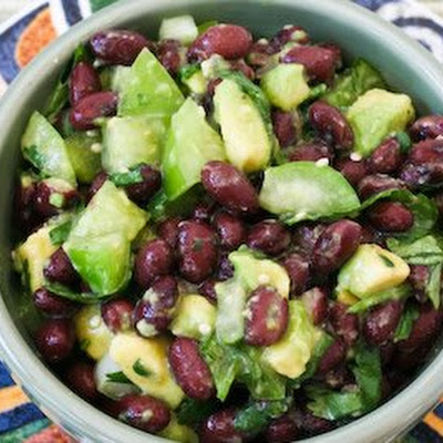 Tomatillo and Black Bean Salsa with Avocado, Lime, and Cilantro