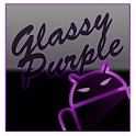 GOKeyboard Theme Glassy Purple icon