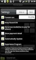 Screenshot of Tip Calculator Donate Version