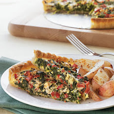 Spinach and Roasted Red Pepper Tart
