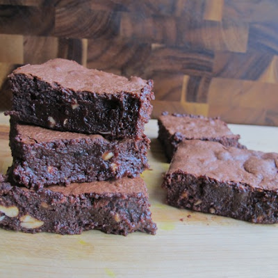 Fudgiest Espresso Cashew Brownies