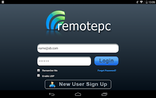 Screenshot of RemotePC AndroidViewer