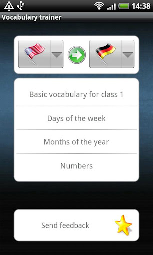 Vocabulary trainer