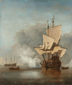 RIJKS: Willem van de Velde (II): The Cannon Shot 1680