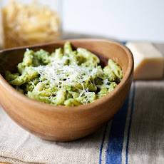 Nutty Arugula Pesto with Penne and Parmesan