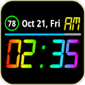 Rainbow Battery Clock (Mini) icon