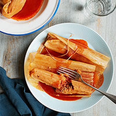 Spiced Pork Hot Tamales