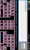 Screenshot of Pink Glow Keyboard Skin