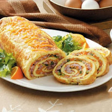 Ham 'n' Cheese Omelet Roll Recipe