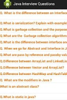 Screenshot of Java J2EE Questions Free