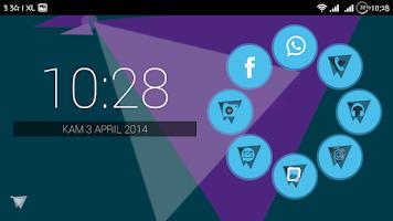 Screenshot of Origami Smart Launcher Theme