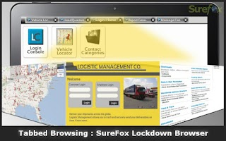 Screenshot of SureFox Kiosk Browser