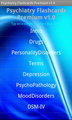 Psychiatry Flashcards Premium